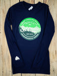 NEW! Long Sleeve Sycamore Brewing Tee- Navy