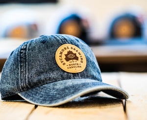 NEW! Sycamore Brewing Circle Patch Trucker Hat- Blue/Denim