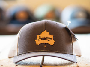 NEW! Sycamore Brewing Leaf Patch Trucker Hats!