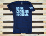 Drink Carolina Proud Tee - Navy and Light Blue