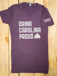 NEW! Drink Carolina Proud- Purple/Cream (Womens)