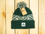 NEW! Sycamore Brewing Jacquard Knit Beanie- Dark Green