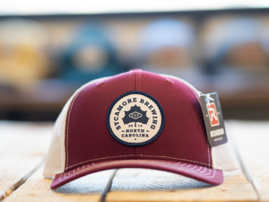 Sycamore Brewing Trucker Hat- Red/White