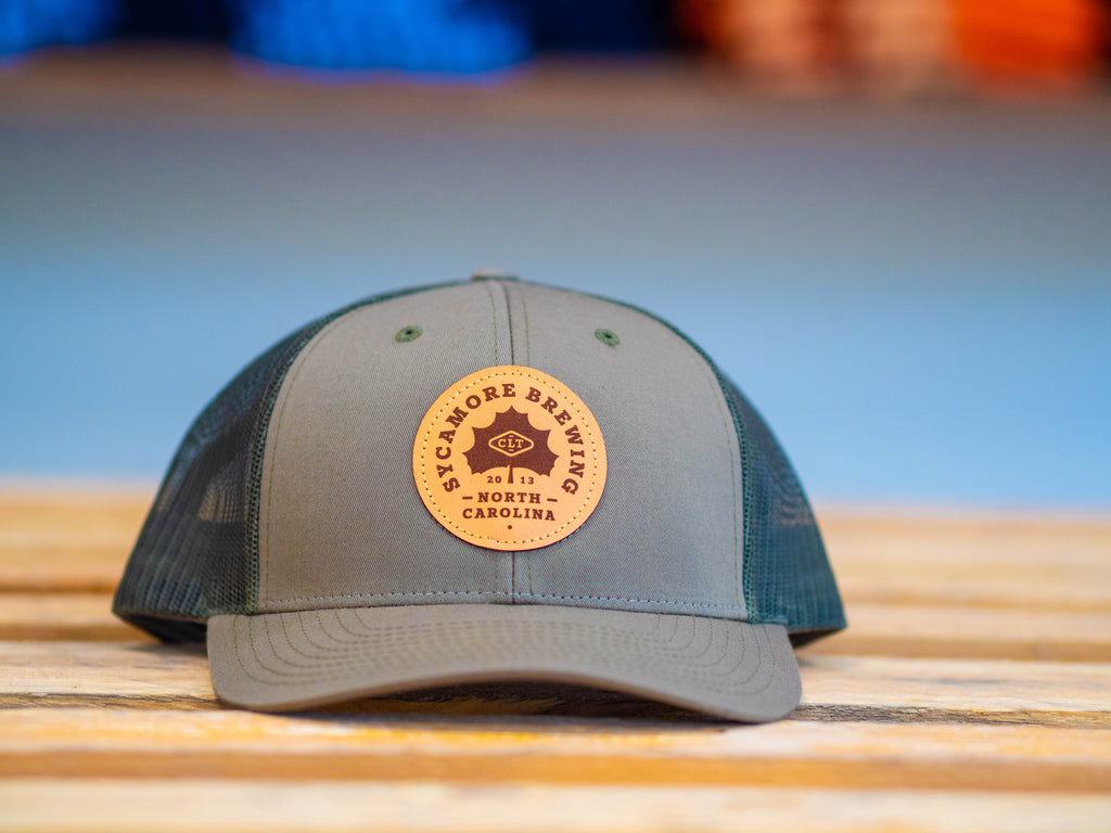 NEW! Sycamore Brewing Trucker Patch Hat-Olive green