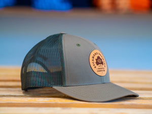 Sycamore Brewing Trucker Patch Hat-Olive green