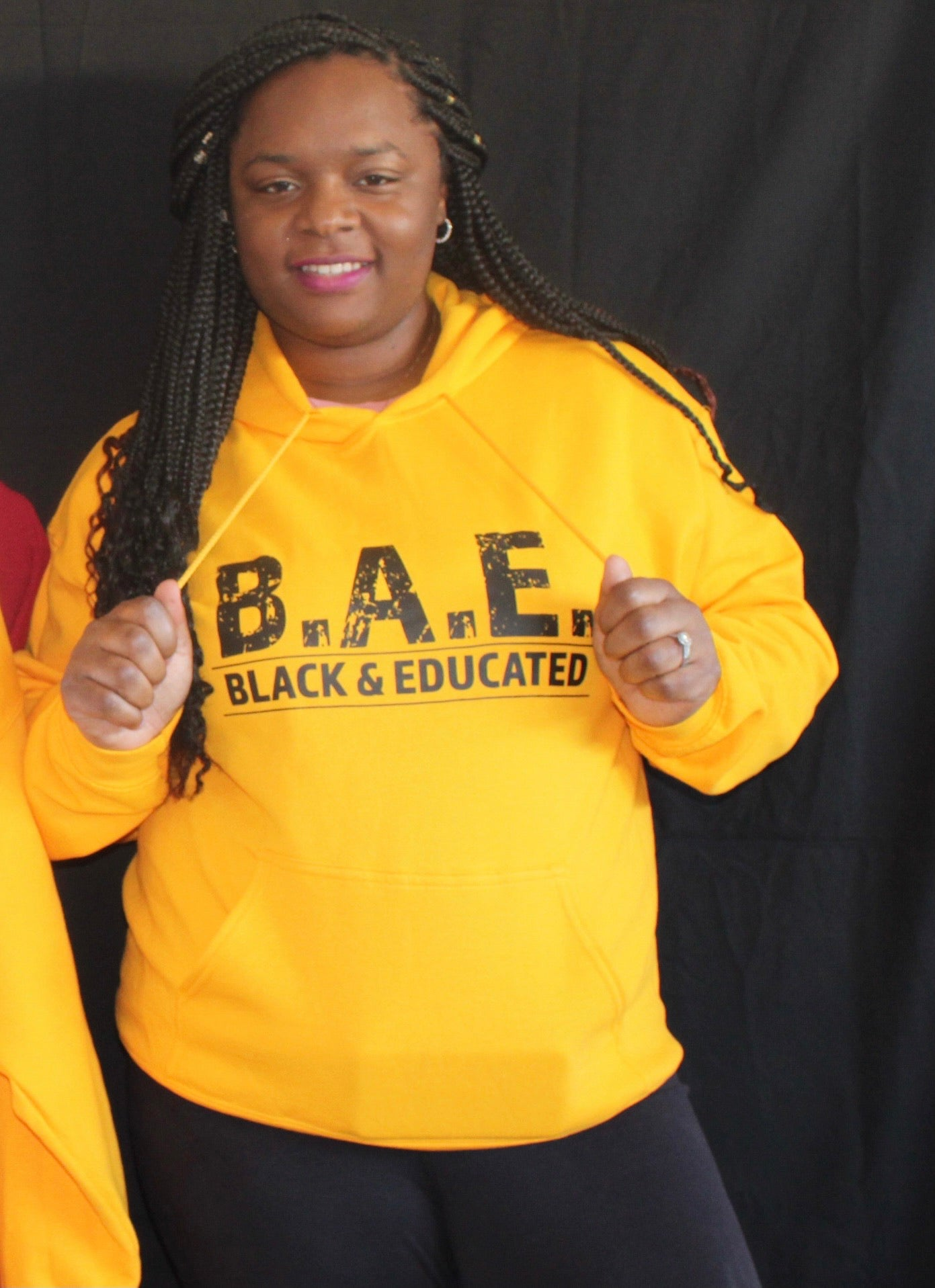 B.A.E. Black and Educated - Gold Hoodie