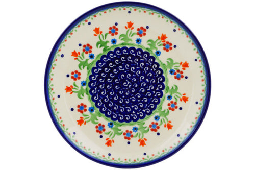 "Polish Pottery Plate 7"" Spring Flowers Theme"