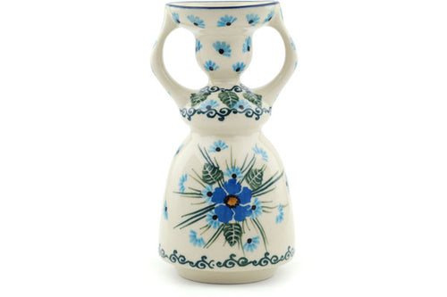 "Candle Holder 6"" Forget Me Not Theme"