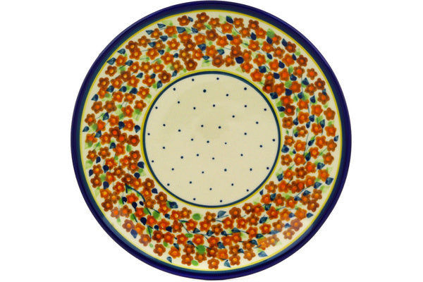 "Plate 7"" Russett Floral Theme"