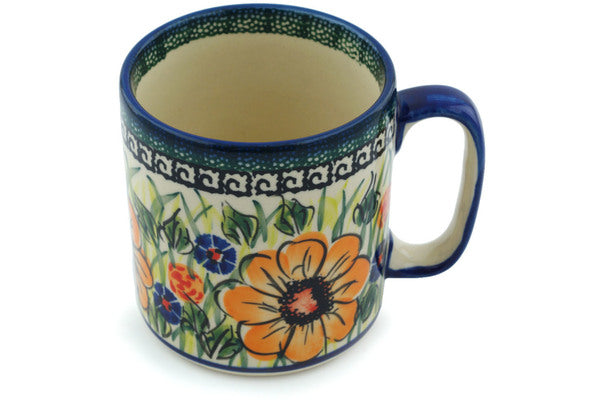 Mug 12 oz Yellow Flower Theme UNIKAT