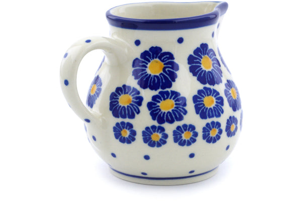 Creamer 7 oz Blue Zinnia Theme