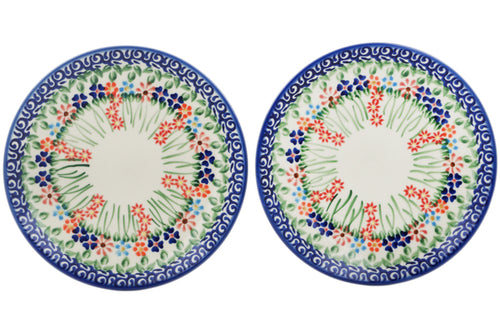Set of 2 dessert plates Blissful Daisy Theme