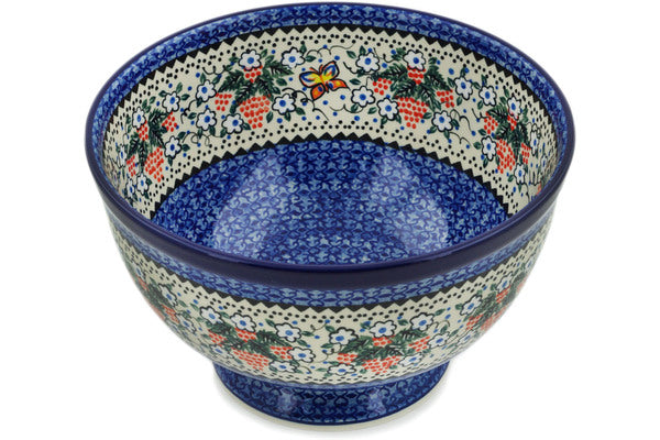 "Bowl 10"" Butterfly Berries Theme UNIKAT"