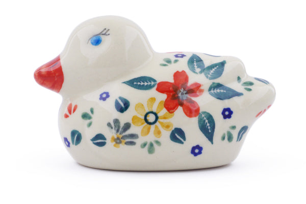 "Duck Figurine 4"" Red Anemone Meadow Theme"