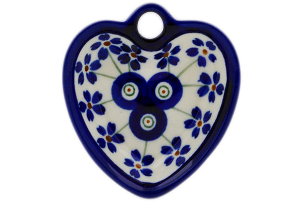 "Heart Shaped Bowl 3"" Flowering Peacock Theme"