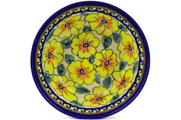 "Bowl 7"" Lemon Poppies Theme UNIKAT"