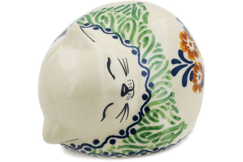 Polish Pottery Cat Figurine 4