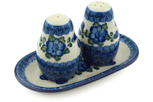 Salt and Pepper 3-Piece Set Blue Poppies Theme