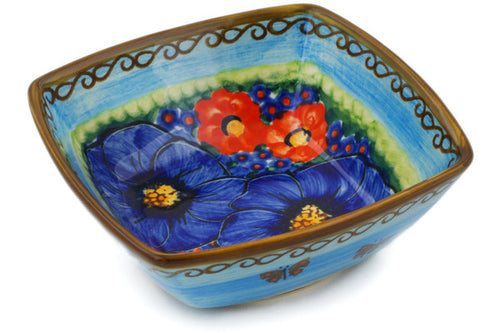 Polish Pottery Square Bowl 5