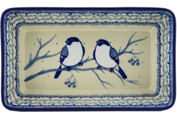 "Rectangular Baker 8"" Waiting Birds Theme UNIKAT"
