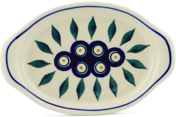 "Tray with Handles 7"" Peacock Theme"