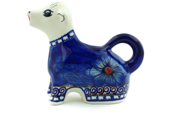Cow Shaped Creamer 7 oz Blue Heaven Theme UNIKAT