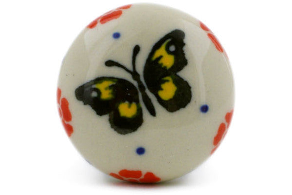 Drawer knob 1-3/8 inch Yellow Butterfly Theme