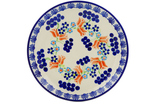 Polish Pottery Set of 4 dessert plates Tulip Berries Theme