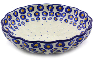 Polish Pottery Fluted Bowl 9