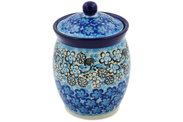 "Jar with Lid 5"" Out Of Blue Theme UNIKAT"