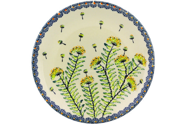 "Plate 8"" Yellow Dandelions Theme"