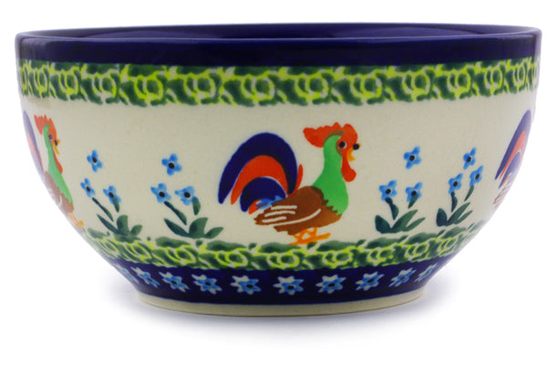 "Bowl 5"" Country Rooster Theme UNIKAT"