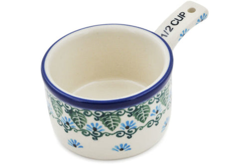 1/2 Cup Measuring Cup Forget Me Not Theme