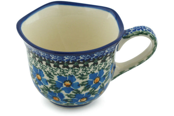 Cup 8 oz Blue Daisy Dream Theme UNIKAT
