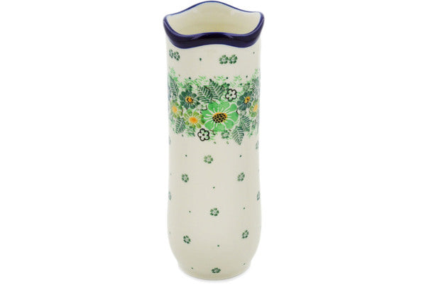 "Vase 7"" Green Wreath Theme UNIKAT"