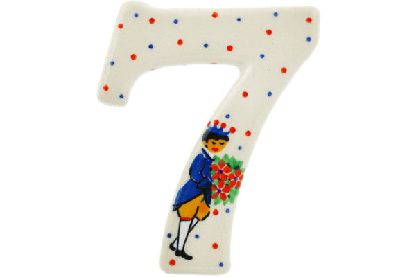 House Number SEVEN (7) 4-inch Charming Prince Theme UNIKAT