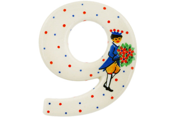 House Number NINE (9) 4-inch Charming Prince Theme UNIKAT