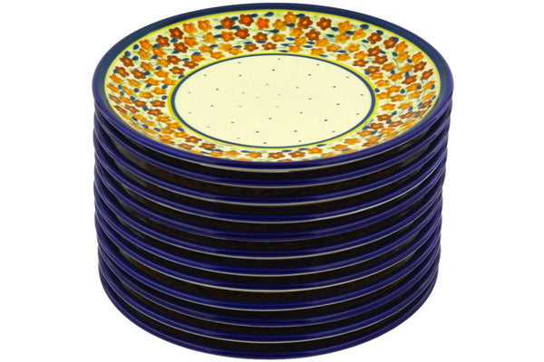 plates set of 12 Russett Floral Theme