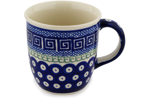 Mug 12 oz Grecian Peacock Theme