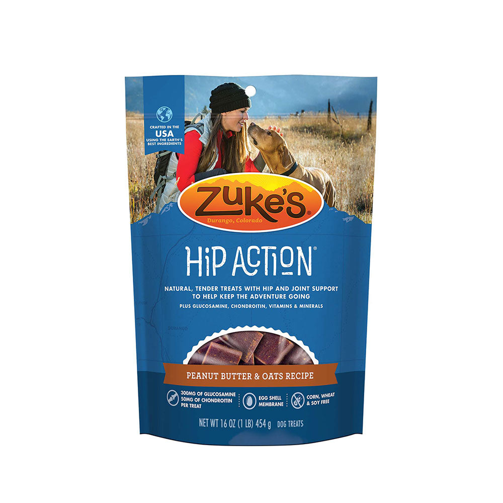 Zuke's® Hip Action® Peanut Butter & Oats Recipe Dog Treats 1 Lbs