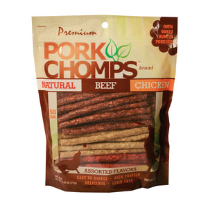 Pork Chomps™ Assorted Flavor Munchy Sticks Dog Treats 50 Count