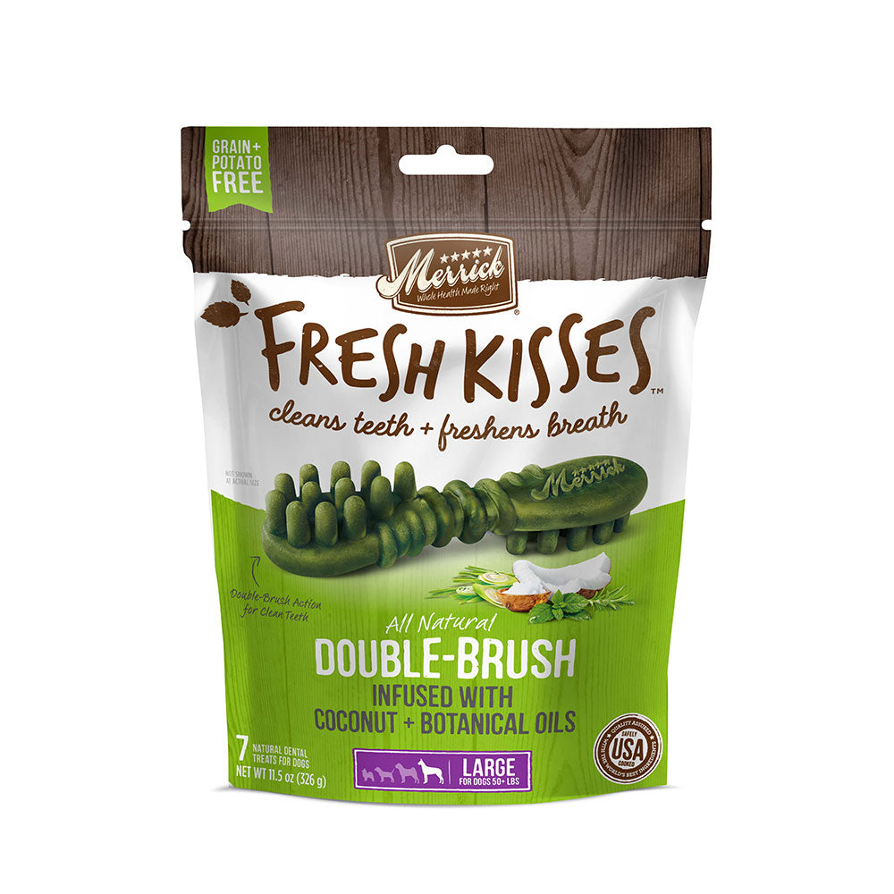 Merrick® Fresh Kisses™ Double Brush Infused with Coconut & Botanical Oils For Large Dogs 11.5 Oz