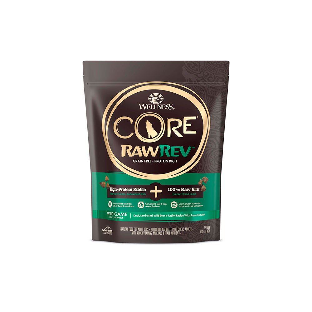 Wellness® Core® RawRev™ Grain Free Wild Game Duck, Lamb Meal, Wild Boar & Rabbit Recipe Dog Food 4 Lbs