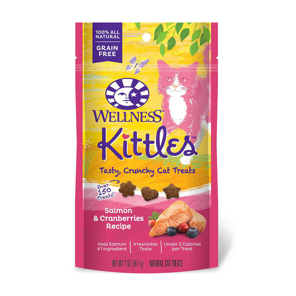 Wellness® Complete Health™ Kittles™ Grain Free Salmon & Cranberries Recipe Crunchy Cat Treats 2 Oz