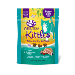 Wellness® Complete Health™ Kittles™ Grain Free Tuna & Cranberries Recipe Crunchy Cat Treats 6 Oz