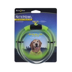 Nite Ize® Nitehowl® Led Safety Necklace for Dog Green Color