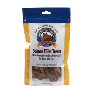 Grizzly® Dehydrated Wild Alaskan Salmon Fillet Cat & Dog Treats 3 Oz