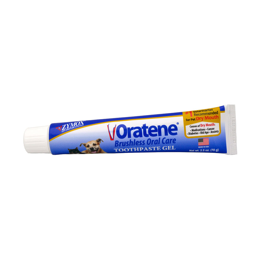 Zymox® Oratene® Brushless Oral Care Toothpaste Gel for Cat & Dog 2.5 Oz