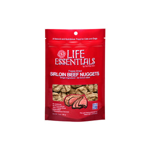 Cat-Man-Doo™ Life Essentials Freeze Dried Sirloin Beef Nugget for Cat & Dog 3 Oz