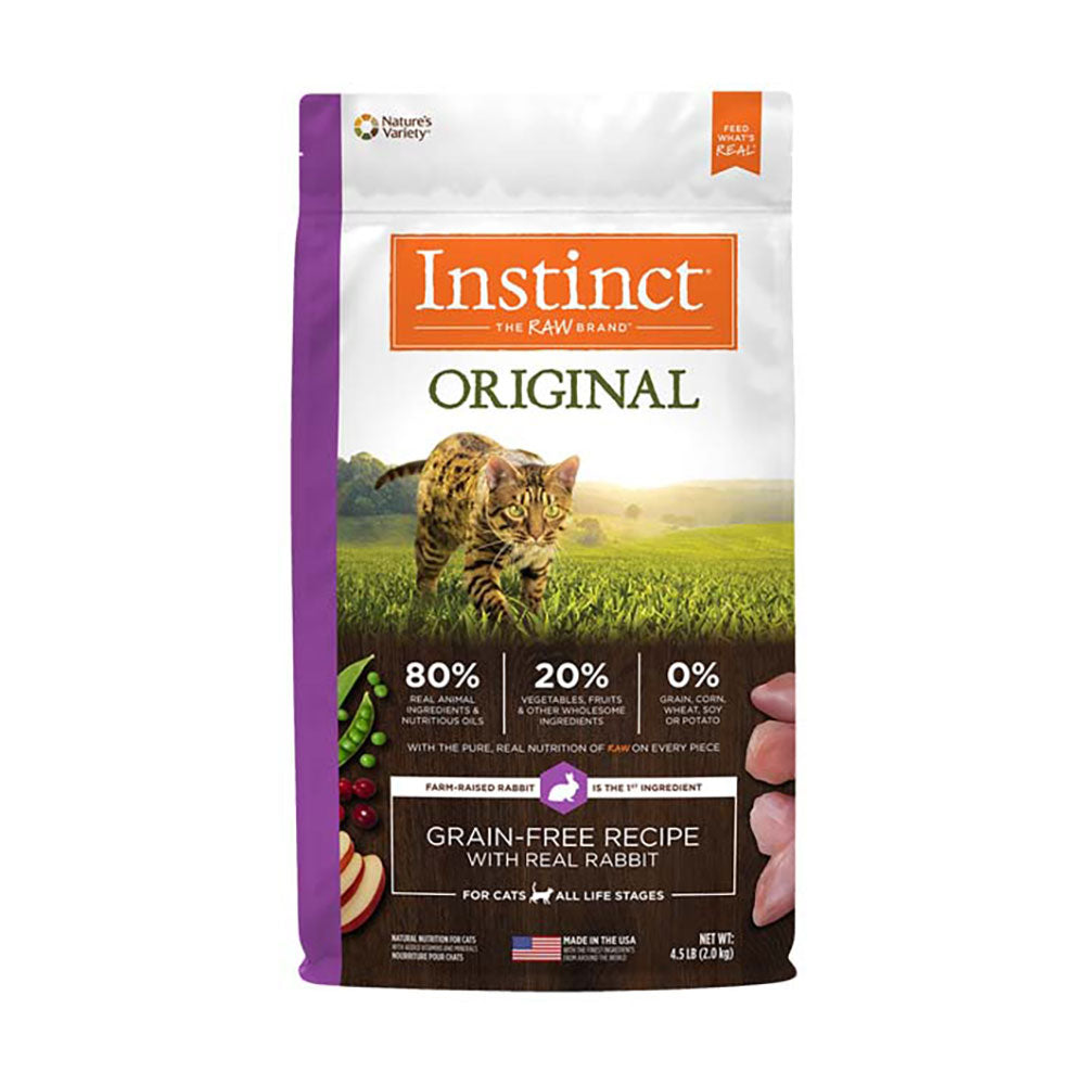 Instinct® Original Grain Free Recipe with Real Rabbit Cat Food 4.5 Lbs